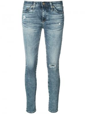 Рваные джинсы скинни Ag Jeans. Цвет: синий