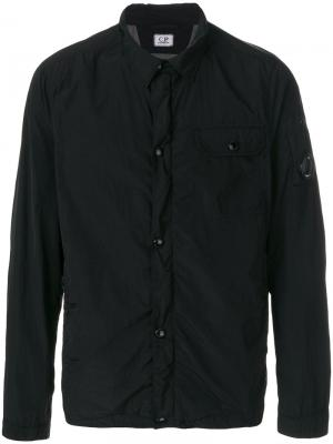 Куртка с косым воротником CP Company. Цвет: чёрный