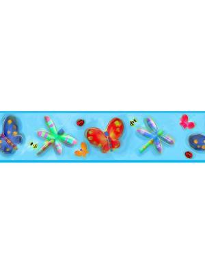 Наклейки для декора - Насекомые, орнамент ROOMMATES. Цвет: белый, голубой, желтый, зеленый, красный, оранжевый, серый, синий, черный