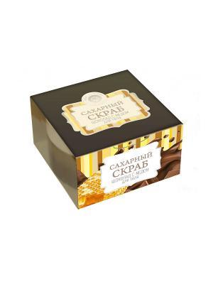 Сахарный скраб для тела Шоколад с медом 300г Мануфактура Дом Природы. Цвет: светло-коричневый