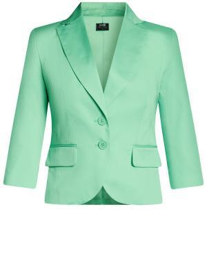 Пиджак Oodji. Цвет: светло-зеленый