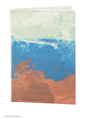 Визитница Mitya Veselkov. Цвет: синий, коричневый, белый