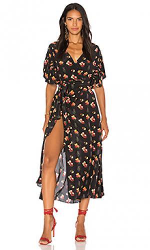 Платье с запахом marianne Carolina K. Цвет: черный