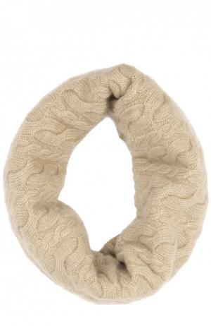 Вязаный шарф-хомут Colombo. Цвет: бежевый