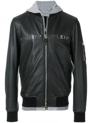 Куртка-бомбер с капюшоном Urban Philipp Plein. Цвет: чёрный