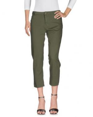 Джинсовые брюки PENCE. Цвет: зеленый-милитари