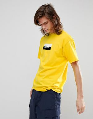 HUF Футболка с логотипом. Цвет: желтый