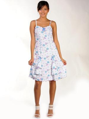 Сорочка ночная Тефия. Цвет: голубой, фиолетовый, белый
