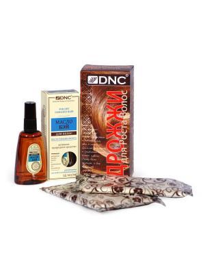 Набор для роста волос: Байевое масло и Дрожжи (55 мл; 100г) DNC. Цвет: молочный, прозрачный, светло-желтый