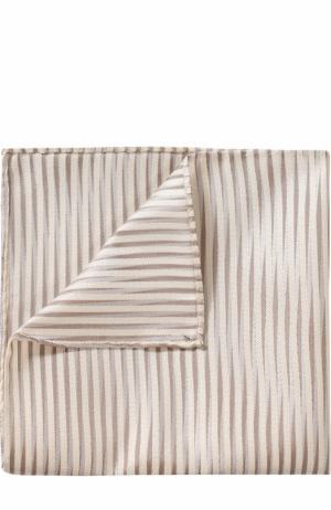 Шелковый платок Giorgio Armani. Цвет: бежевый