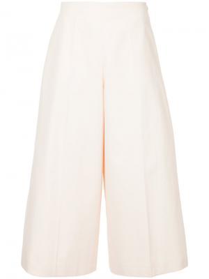 Юбка-брюки с высокой талией Delpozo. Цвет: розовый и фиолетовый