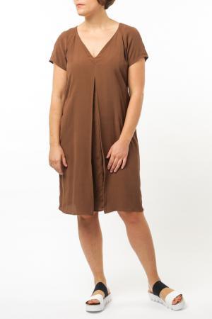 Платье Jones. Цвет: коричневый