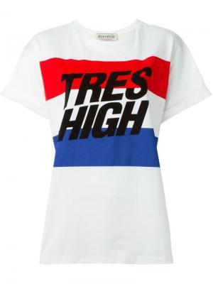 Футболка Tres High Être Cécile. Цвет: белый