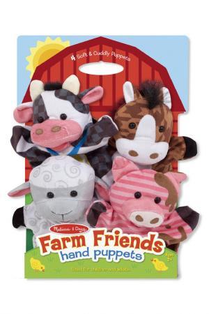Плюшевые куклы на руку Ферма Melissa & Doug. Цвет: мультиколор