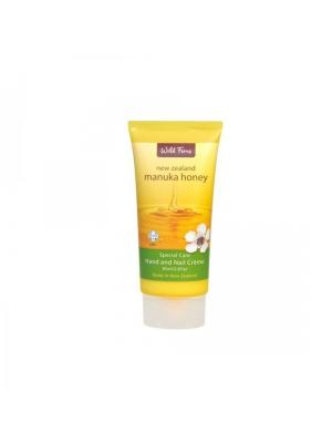 Увлажняющий крем для рук и ногтей Manuka Honey Hand & Nail Creme с медом манука, 85 мл WildFerns. Цвет: белый