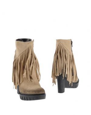 Полусапоги и высокие ботинки UNLACE. Цвет: бежевый
