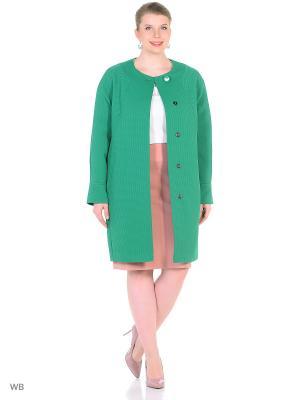 Пальто FORTUNA. Цвет: темно-зеленый