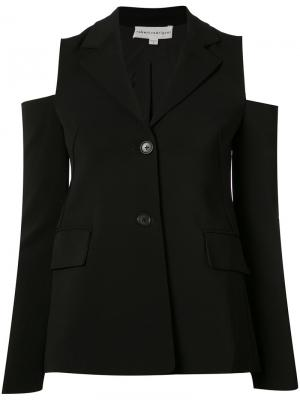 Приталенный пиджак с открытыми плечами Robert Rodriguez. Цвет: чёрный