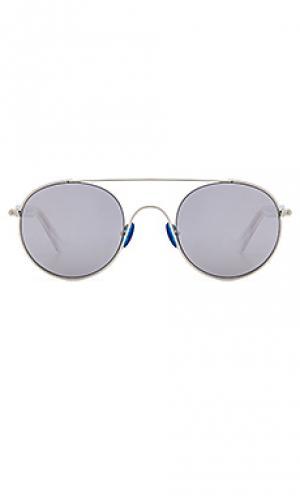 Солнцезащитные очки cellophane disco WESTWARD LEANING. Цвет: металлический серебряный