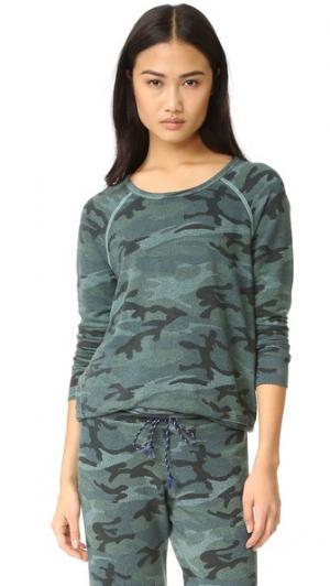Камуфляжный пуловер SUNDRY. Цвет: нефритовый
