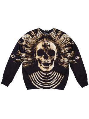 Свитшот Baroque Skull FUSION. Цвет: черный, светло-бежевый