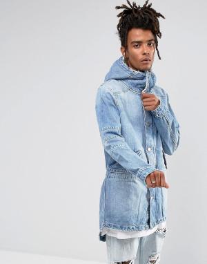 Cayler & Sons Синяя джинсовая парка с подкладкой из искуcственного меха Son. Цвет: синий