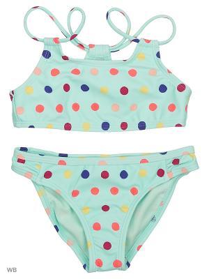 Раздельные купальники ROXY. Цвет: светло-зеленый, розовый, синий