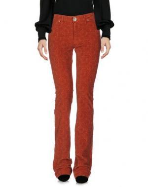 Повседневные брюки NOLITA. Цвет: ржаво-коричневый