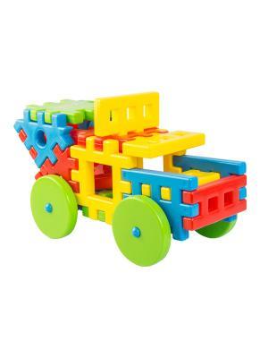 Игрушка-конструктор Соедини 25 эл. ТИГРЕС. Цвет: желтый, синий, зеленый, красный