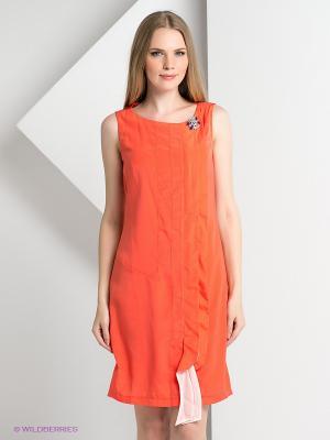 Платье BOVONA. Цвет: коралловый