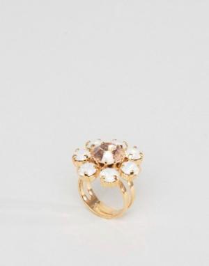 Krystal Кольцо с кристаллами Swarovski от. Цвет: кремовый