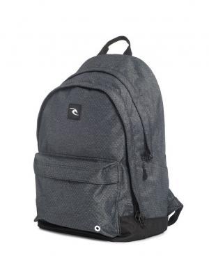 Рюкзак RIPSTOP HTR DOUBLE DOME Rip Curl. Цвет: черный