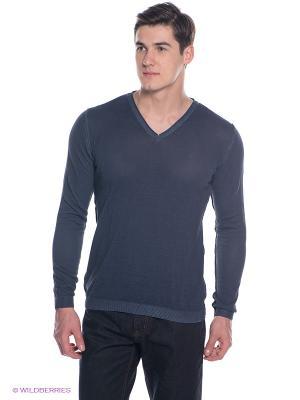 Пуловер BRUNOTTI. Цвет: синий