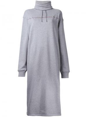 Платье-толстовка G.V.G.V.. Цвет: серый