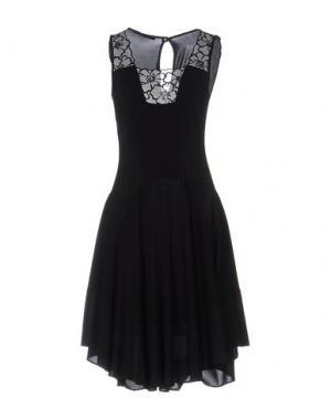 Платье до колена PAOLA FRANI. Цвет: черный