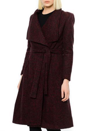 Пальто Dewberry. Цвет: burgundy