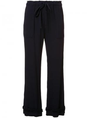Укороченные брюки с бахромой Raquel Allegra. Цвет: синий