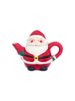 Чайник Дед Мороз Elan Gallery. Цвет: красный, белый, зеленый