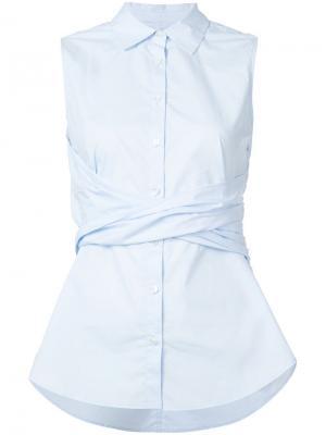 Рубашка без рукавов Derek Lam 10 Crosby. Цвет: синий