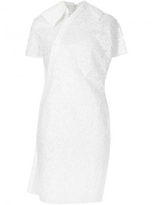Асимметричное прозрачное платье-рубашка Junya Watanabe Comme Des Garçons. Цвет: белый