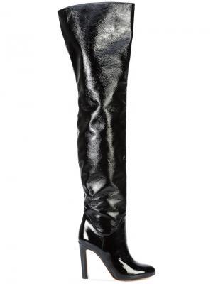Высокие сапоги Francesco Russo. Цвет: чёрный