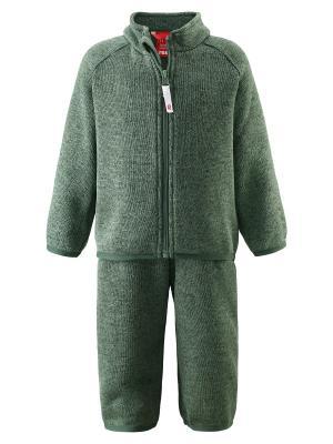 Комплект флисовый Reima. Цвет: зеленый