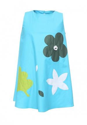 Платье Il Gufo. Цвет: голубой