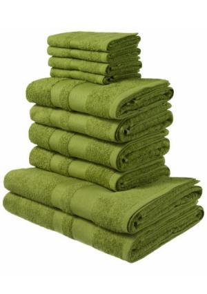 Полотенце Vanessa, 10 штук MY HOME. Цвет: бирюзовый, зеленый, коричневый, красный, кремовый, оранжевый, темно-зеленый, темно-серый, ягодный