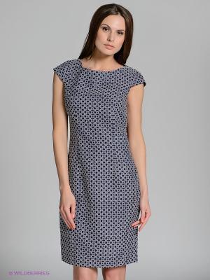 Платье QUIOSQUE. Цвет: синий, белый