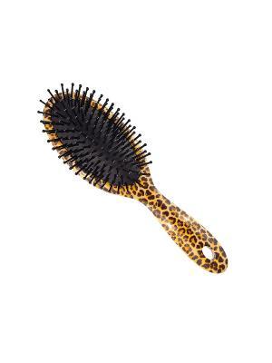 Щетка массажная Salon Professional 8940 Леопард,  L 220 мм.. Цвет: коричневый