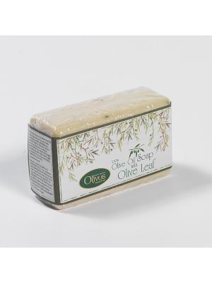 Мыло туалетное натуральное Листья оливы 150 гр. OLIVOS. Цвет: бежевый