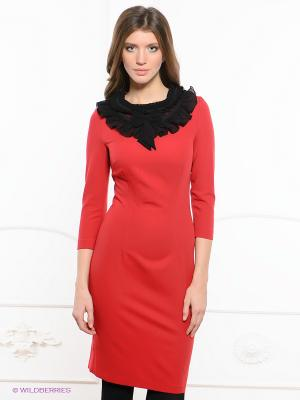 Платье Festival. Цвет: красный, черный