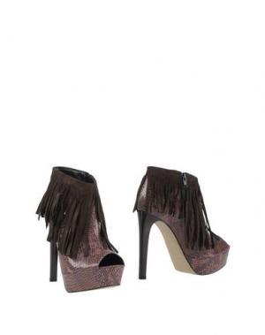 Ботинки LE STELLE. Цвет: коричневый