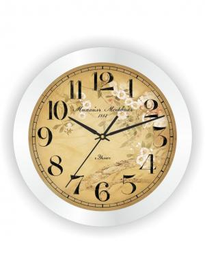 Часы настенные Михаилъ Москвинъ. Цвет: бежевый, белый